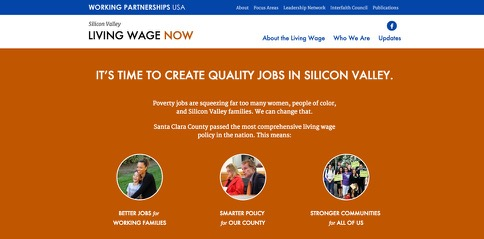 Silicon Valley Living Wage screenshot